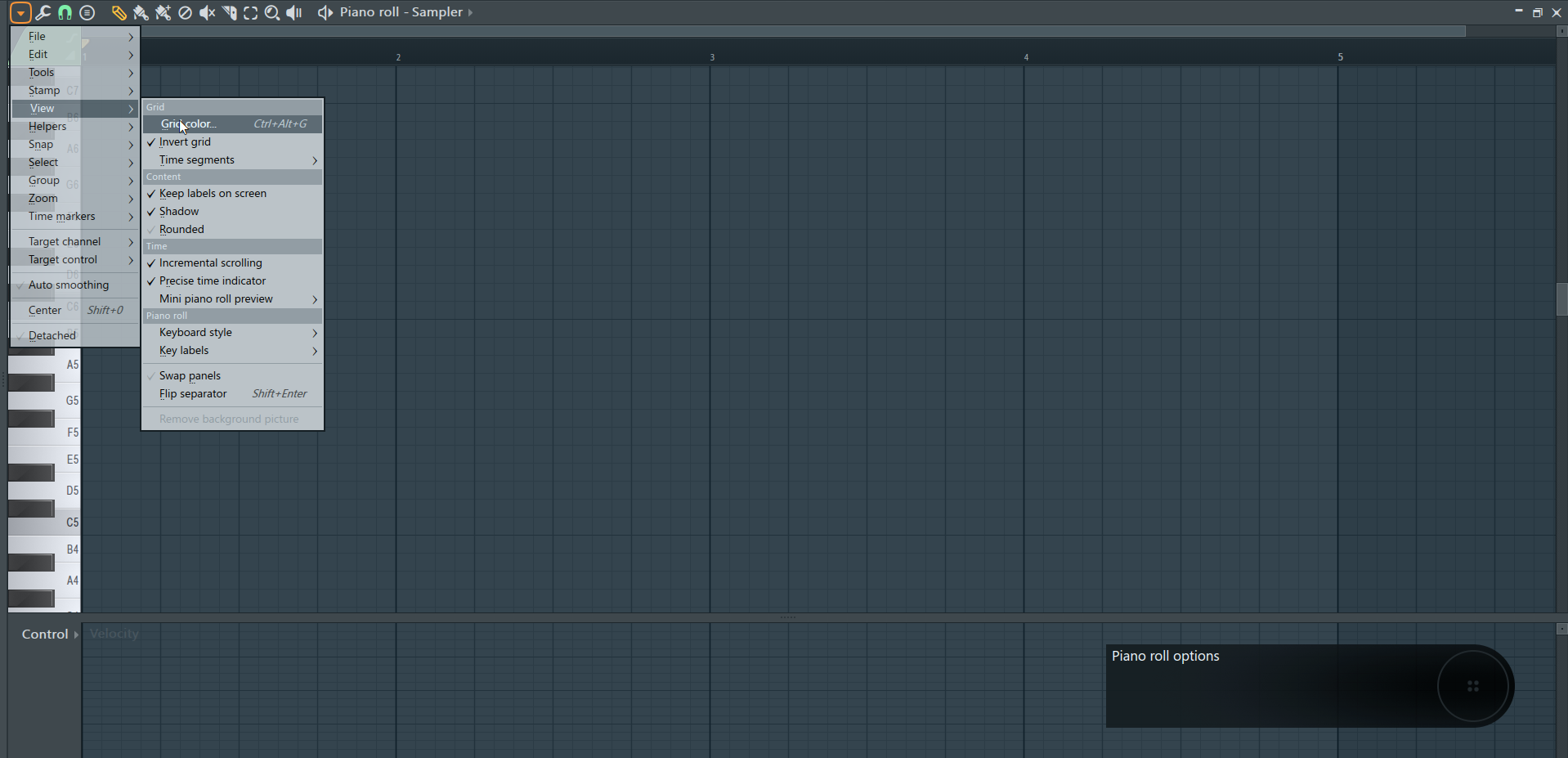 How To Change The Background Color of FL Studio's Piano Roll and Playlist_2 (Grid Color).png