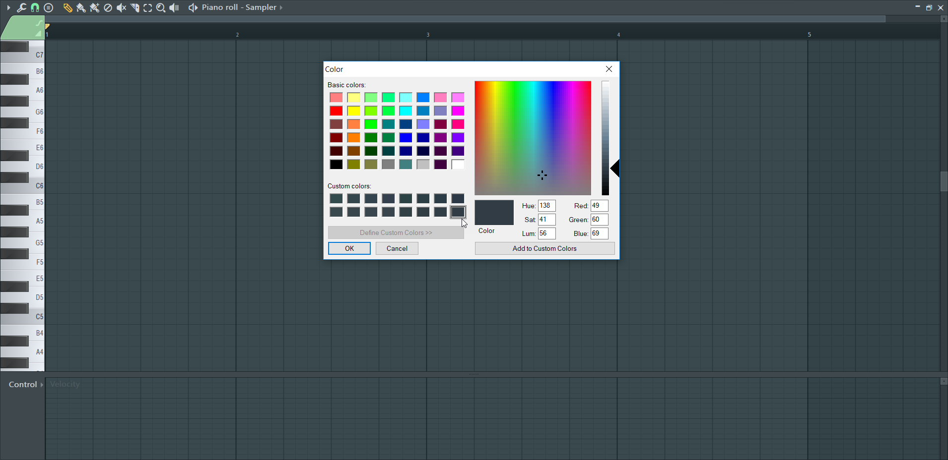 How To Change The Background Color of FL Studio's Piano Roll and Playlist_3 (Grid Color Select...png