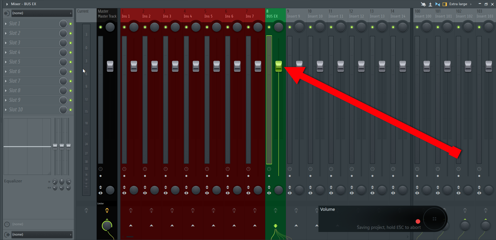How To Create A Bus Or A Group Channel in FL Studio DAW IMG2 (Empty Mixer Track).png