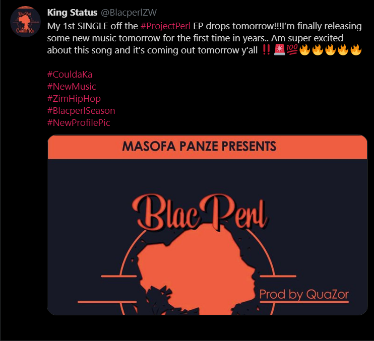 Zim Hip Hop Artist - Chiedza Babra Maswera 'Blacperl' To Release ProjectPerl EP.png