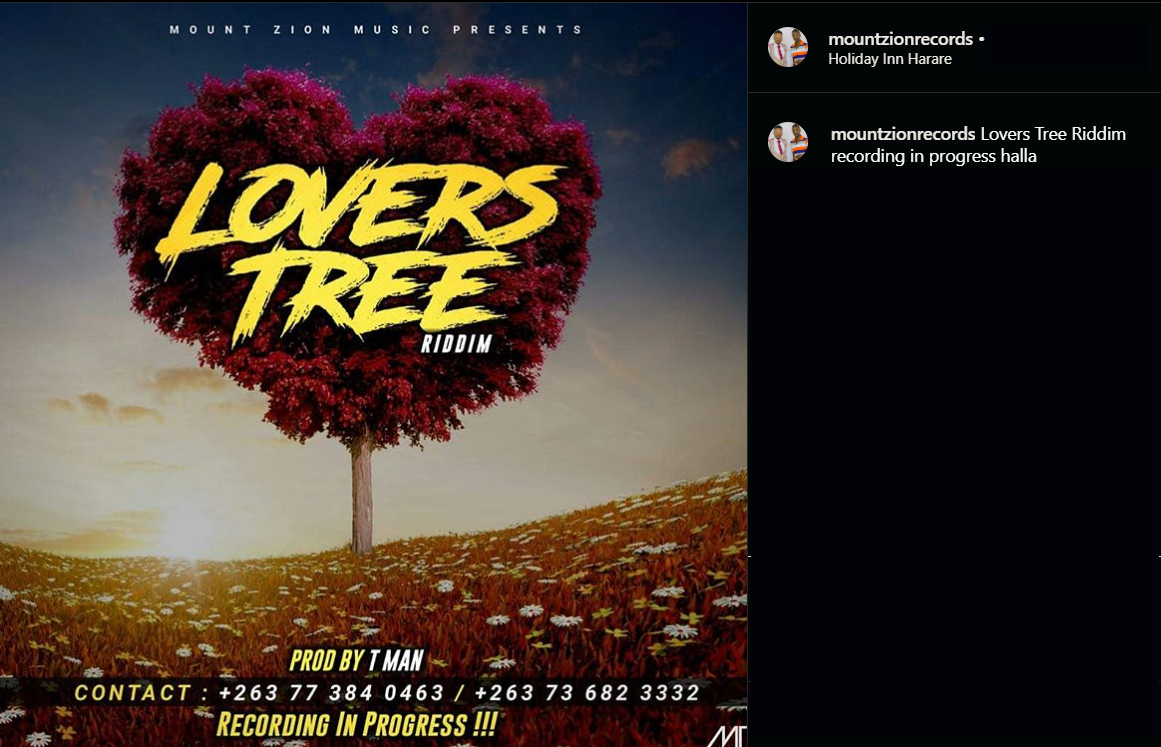 Zimdancehall 2020 - Lovers' Tree Riddim Produced by Mount Zion Music.png